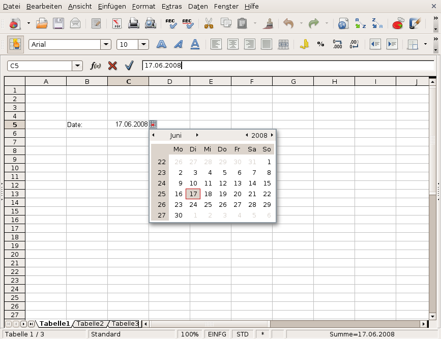 90821 – Pick dates in cells with